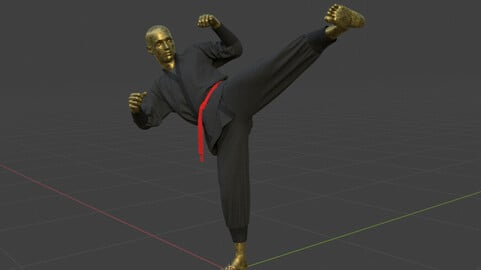 Martial arts outfit marvelous designer project file + obj with 4k textures