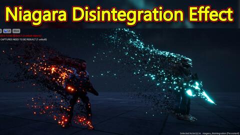 Disintegration Effect in UE4.26 Niagara