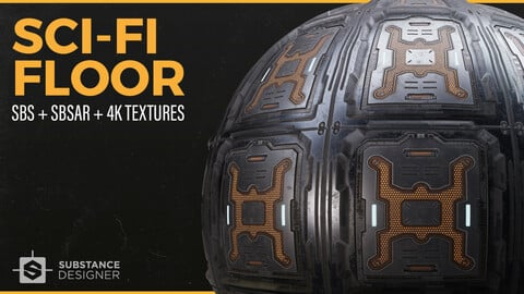 Sci-Fi Hard Surface Floor | Substance Designer | Free Resource