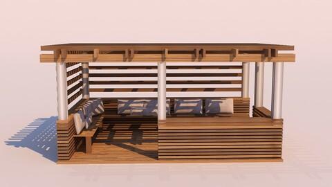 Modern Wooden Pergola - 07