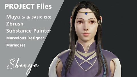 Stylized Fantasy Female Character Shenya