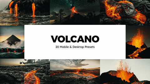 20 Volcano LUTs and Lightroom Presets