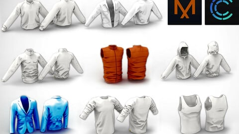 8 Male Clothes MD / Clo3D