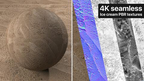 Chocolate ice cream Photogrammetry based Texture