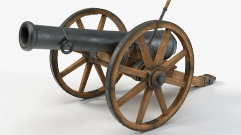 Medieval style ramadan cannon with 4K PBR textures