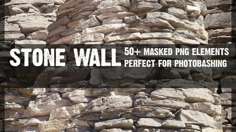 STONE WALL Cut Out PNG pack