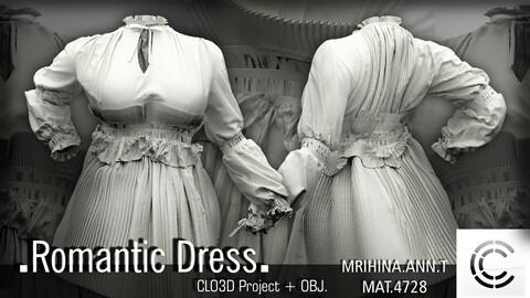 .Romantic dress. Clo3d, Marvelous Designer.