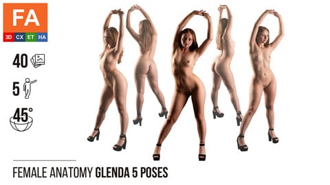 Female Anatomy | Glenda 5 Various Poses | 40 Photos