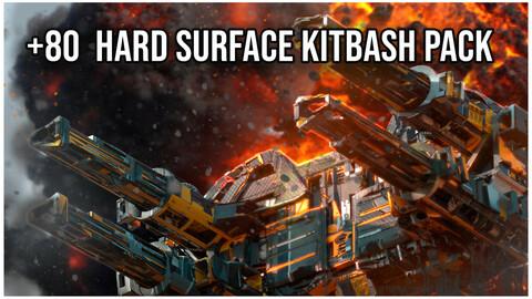 84 Hard Surface Mechanical Sci-Fi Kitbash + IMM Brushes