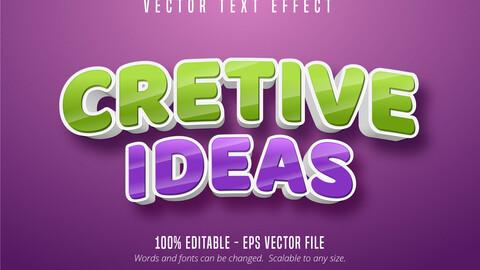 Creative ideas text, cartoon style editable text effect
