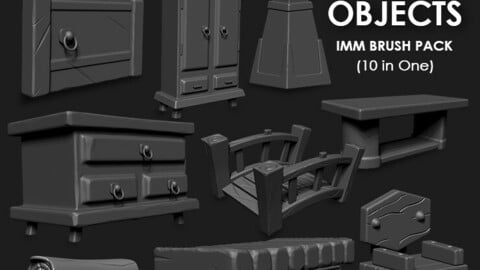 Stylized Objects IMM Brush Pack (10 in One)