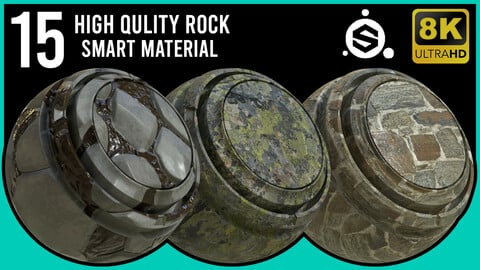 15 High Quality Rock Smart Material / .spsm / 8K