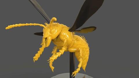 Murdering Asian Hornet Sculpture