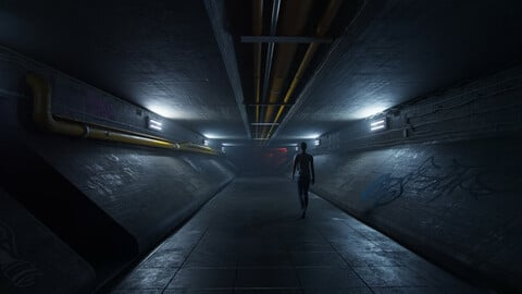 Underground Tunnel Blender Source Files (Evee compatible)