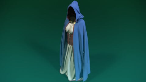 Medieval Corset Dress with Cloak