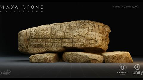 Mayan Stone 02 4K PBR