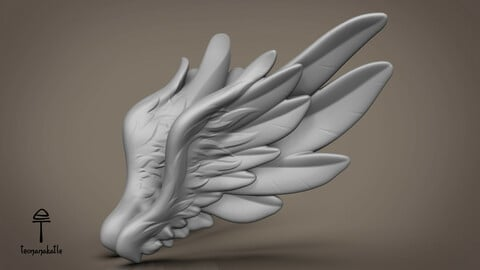 Wings 02. 3D-model. OBJ-file