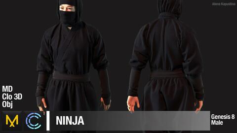 Ninja / Marvelous Designer / Clo 3D project + obj