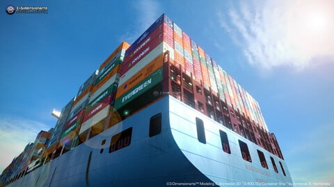 Container Ship 8,400 T.E.U.