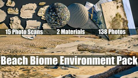 Beach Environment Concept/Illustration Asset Pack