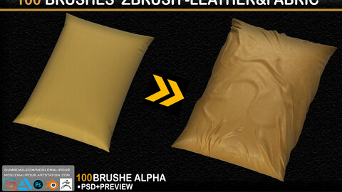 100 Brushes Zbrush_Leather & Fabric