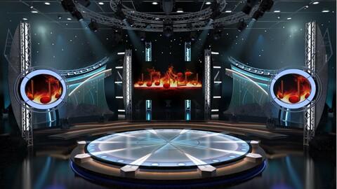 Virtual TV Studio Entertainment Set 5