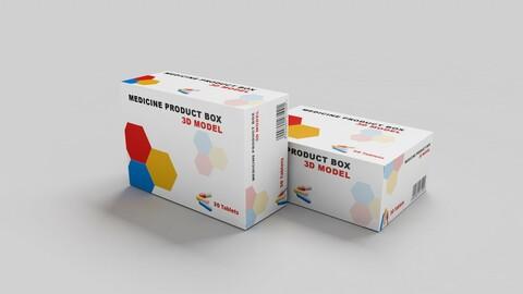 medicine Product Box 3D model
