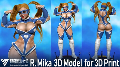 R.Mika-Street Fighter-3D Model for 3D Print