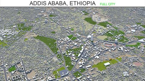 Addis Ababa city Ethiopia 3d model 60km