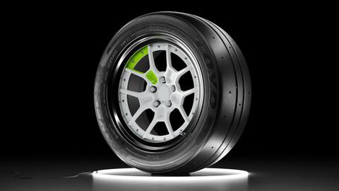 Wheel set TOYO PROXES RR tire with Rotiform ZMO rim