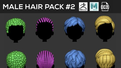 Male Hair Pack #2