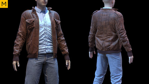 Mens clothing. Avatar genesis 8 Male. Marvelous Designer, Clo3d project + OBJ/FBX files.(15)