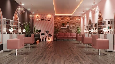 Makeup Studio Interior Design
