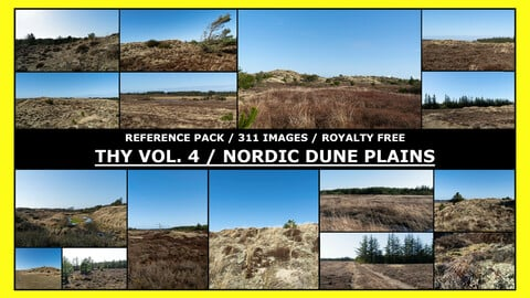 THY VOL.4 - NORDIC DUNE PLAINS / Photo Reference / 300+ images