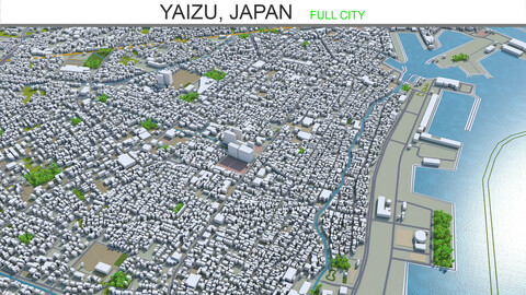 Yaizu city Japan 3d model 25km