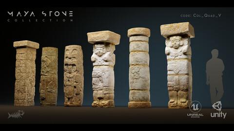 Mayan Stone 04 PBR 4K