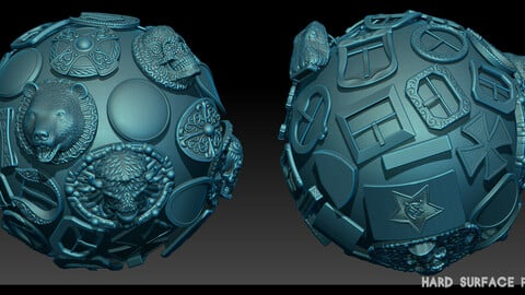 Hard Surface plaques Zbrush