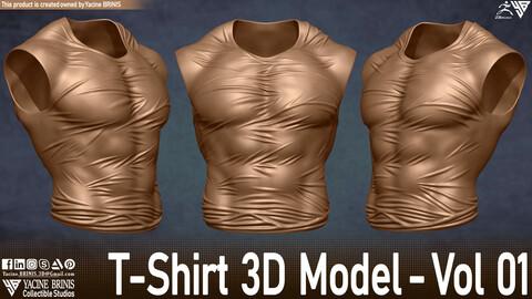 T-Shirt 3D Model -Vol 01