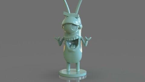 Plankton Arttoy Sculpture