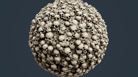 Skulls Bones Horror Seamless PBR Textures 15