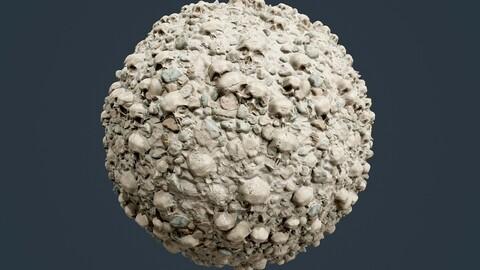Skulls Bones Horror Seamless PBR Texture 26