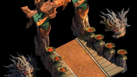 on cliff religious altar Zoroastrianism portal 01