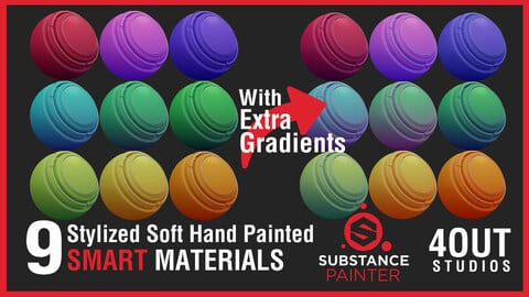 Stylized Soft Hand-Painted Smart Materials for Substance Painter