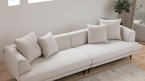 DK080 4-seat sofamodular full cover fabric water-repellent sofa