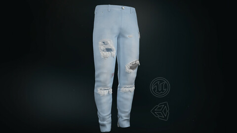 Ripped Jeans - 3D Model
