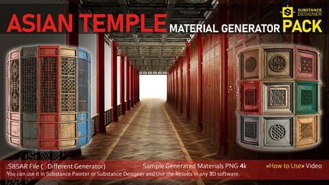 Asian Temple PBR Material Generator