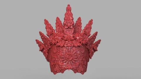 Natural Headpiece Mask 3D Print