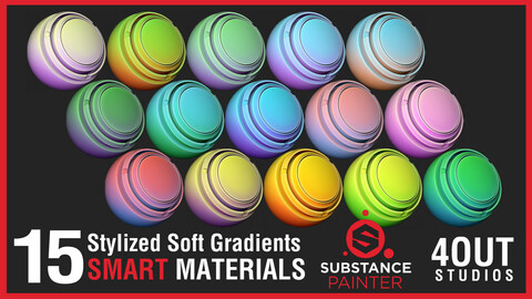 Stylized Soft Gradients Smart Materials for Substance Painter