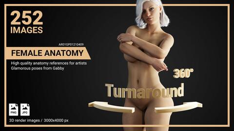 Female Anatomy References Pack. Gabriella. Glamorous Poses.