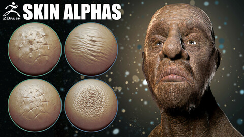 Skin Alphas for ZBrush + Video Tutorial